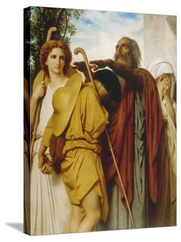 Tobias Receives His Father's Blessing, 1860-William Adolphe Bouguereau-Stretched Canvas Print