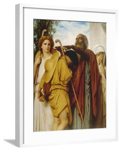 Tobias Receives His Father's Blessing, 1860-William Adolphe Bouguereau-Framed Art Print