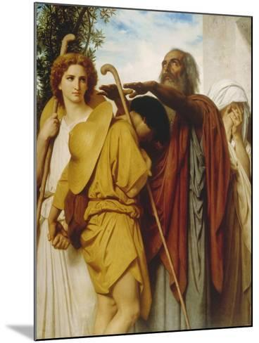 Tobias Receives His Father's Blessing, 1860-William Adolphe Bouguereau-Mounted Giclee Print