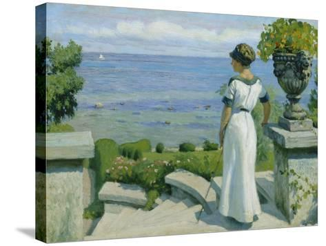 On the Terrace, 1912-Paul Fischer-Stretched Canvas Print