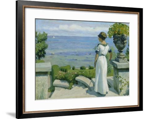 On the Terrace, 1912-Paul Fischer-Framed Art Print