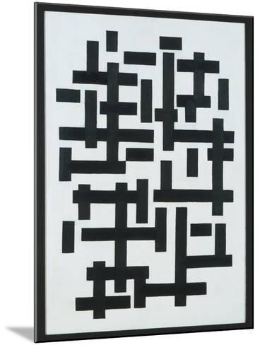 Composition White-Black, 1918-Theo van Doesburg-Mounted Giclee Print