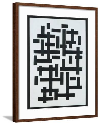 Composition White-Black, 1918-Theo van Doesburg-Framed Art Print