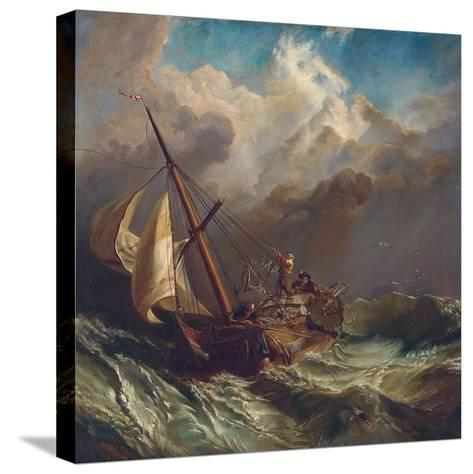On the Dogger Bank-William Clarkson Stanfield-Stretched Canvas Print