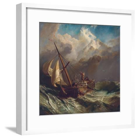 On the Dogger Bank-William Clarkson Stanfield-Framed Art Print