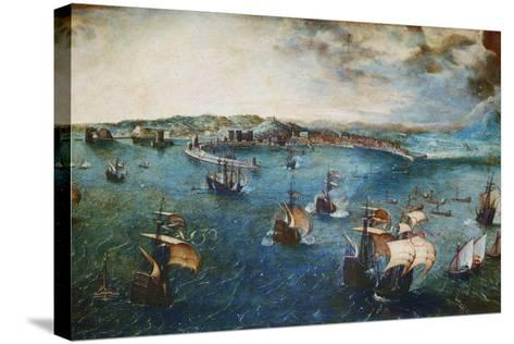 View of the Port of Naples, Ca, 1560-Pieter Bruegel the Elder-Stretched Canvas Print