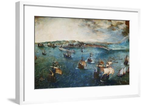 View of the Port of Naples, Ca, 1560-Pieter Bruegel the Elder-Framed Art Print