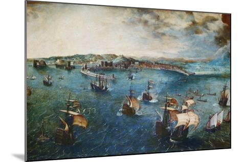 View of the Port of Naples, Ca, 1560-Pieter Bruegel the Elder-Mounted Giclee Print