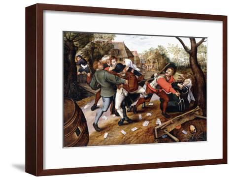 Peasants Brawling, 1619-Pieter Bruegel the Elder-Framed Art Print