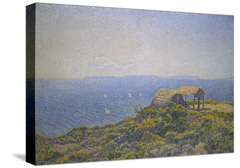 L'Ile Du Levant, Vu Du Cap Benat-Theo van Rysselberghe-Stretched Canvas Print
