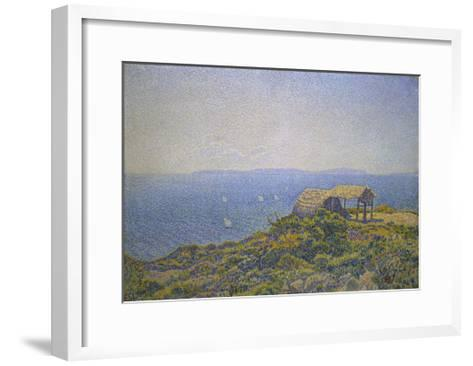 L'Ile Du Levant, Vu Du Cap Benat-Theo van Rysselberghe-Framed Art Print