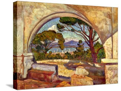 The Chapel of St, Anne, Saint Tropez, C. 1920-Theo van Rysselberghe-Stretched Canvas Print