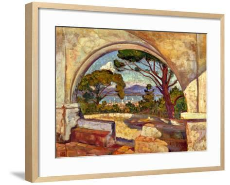 The Chapel of St, Anne, Saint Tropez, C. 1920-Theo van Rysselberghe-Framed Art Print