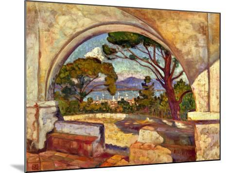 The Chapel of St, Anne, Saint Tropez, C. 1920-Theo van Rysselberghe-Mounted Giclee Print