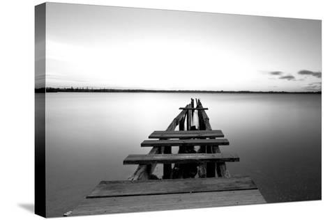 Old Pier--Stretched Canvas Print
