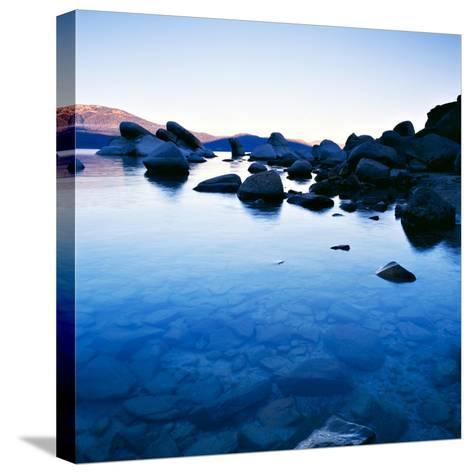 Blue Rocks-PhotoINC-Stretched Canvas Print