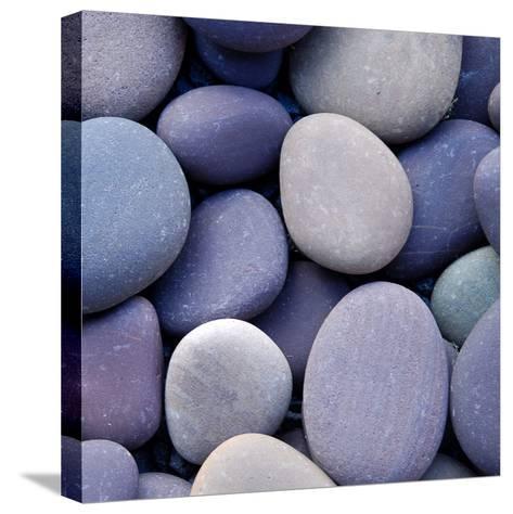Purple Pebbles--Stretched Canvas Print