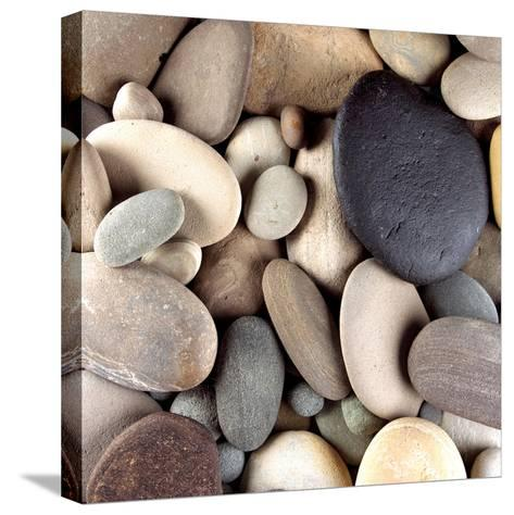 Brown Pebbles--Stretched Canvas Print