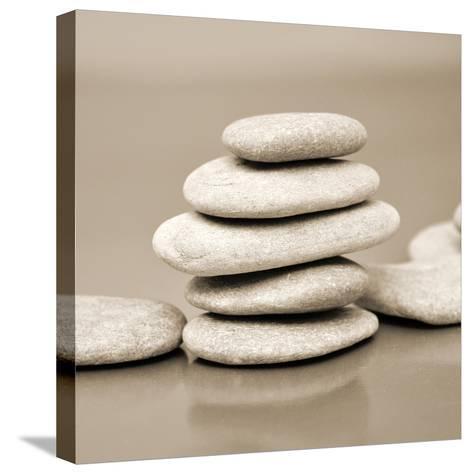 Zen Pebbles--Stretched Canvas Print