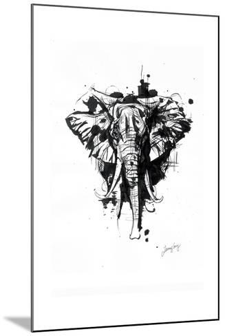 Inked Elephant-James Grey-Mounted Art Print