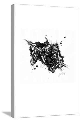 Inked Frog-James Grey-Stretched Canvas Print