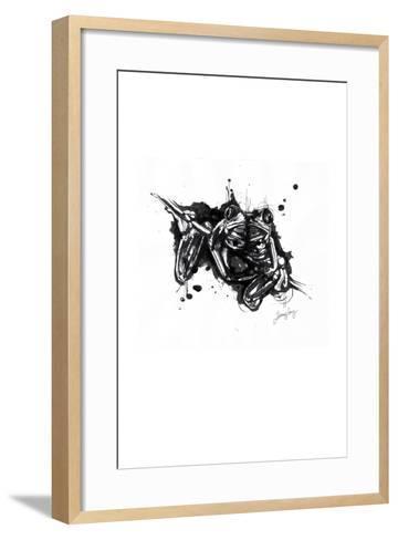 Inked Frog-James Grey-Framed Art Print