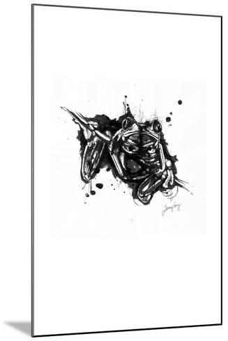 Inked Frog-James Grey-Mounted Art Print