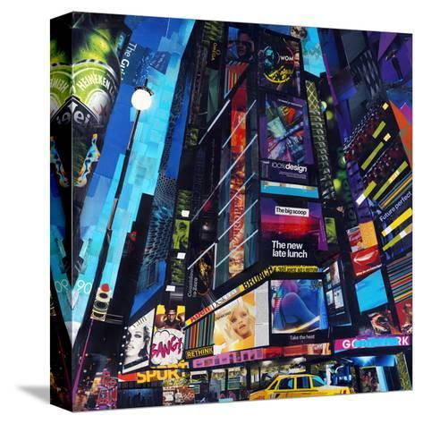 City Night-James Grey-Stretched Canvas Print