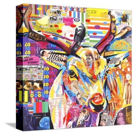 Funky Deer-James Grey-Stretched Canvas Print