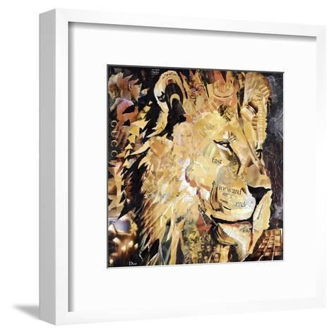 The Lion-James Grey-Framed Art Print