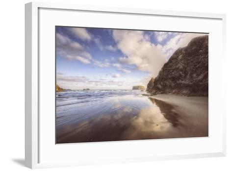 Beachscape at Lovely Bandon Beach, Oregon Coast-Vincent James-Framed Art Print