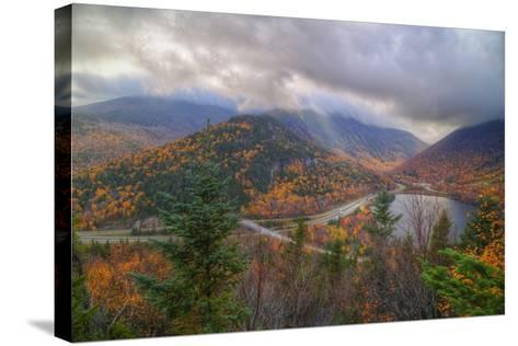 Morning Storm at Echo Lake, White Mountain New Hampshire-Vincent James-Stretched Canvas Print