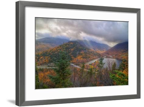 Morning Storm at Echo Lake, White Mountain New Hampshire-Vincent James-Framed Art Print
