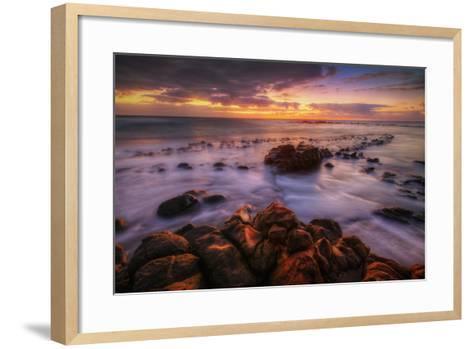 Sunrise at Kapaa, Kauai Hawaii-Vincent James-Framed Art Print