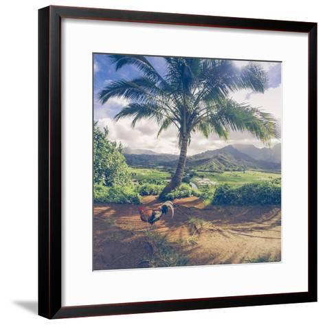 Hanalei Chicken Landscape, Kauai Hawaii-Vincent James-Framed Art Print