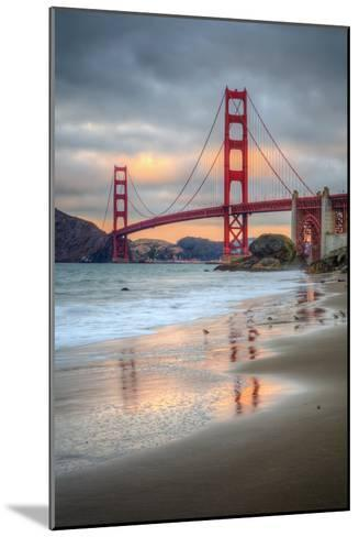 Marshall Beach Sunset and Golden Gate Bridge, California-Vincent James-Mounted Photographic Print