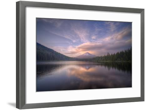 Cloudscape Reflection at Trillium Lake, Oregon-Vincent James-Framed Art Print