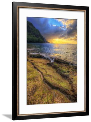 Day's End at Ke'e Beach, Na Pali Coast, Kauai-Vincent James-Framed Art Print
