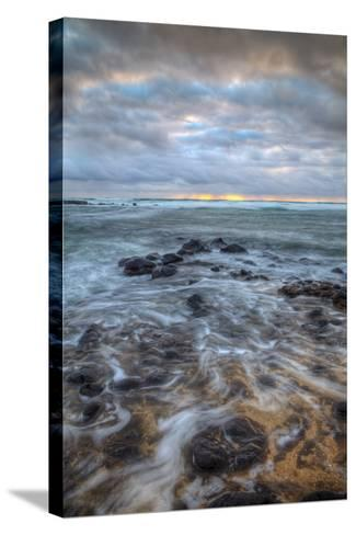 Moody Morning Seascape, East Kauai Hawaii-Vincent James-Stretched Canvas Print