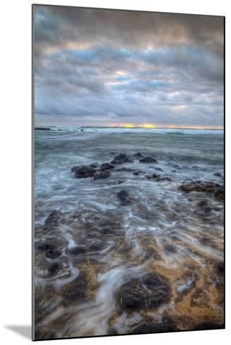 Moody Morning Seascape, East Kauai Hawaii-Vincent James-Mounted Photographic Print