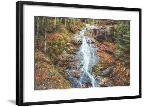 Beaver Creek Cascades in Autumn, New Hampshire-Vincent James-Framed Art Print