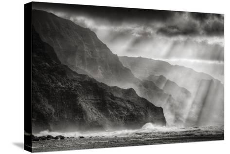 Sacred Light and Mist at Na Pali Coast, Kauai Hawaii-Vincent James-Stretched Canvas Print