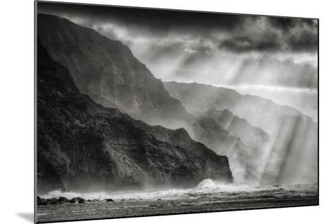 Sacred Light and Mist at Na Pali Coast, Kauai Hawaii-Vincent James-Mounted Photographic Print