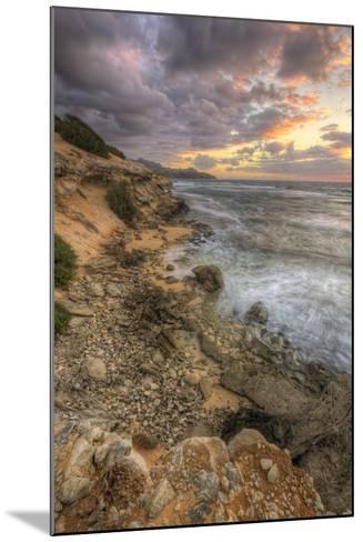 Sunset Drama at Shipwreck Beach, Kauai Hawaii-Vincent James-Mounted Photographic Print