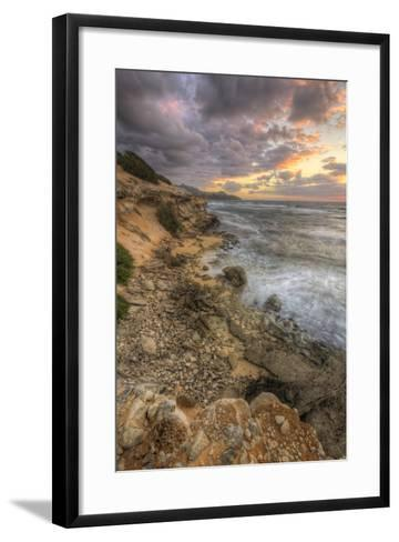 Sunset Drama at Shipwreck Beach, Kauai Hawaii-Vincent James-Framed Art Print