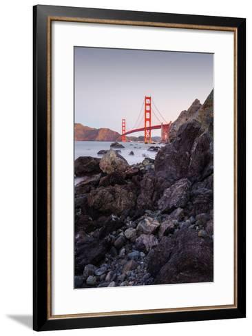 View From The Rocks II, Golden Gate Bridge, San Francisco-Vincent James-Framed Art Print