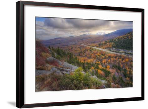 Autumn Road Through the White Mountains, New Hampshire-Vincent James-Framed Art Print