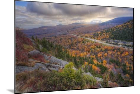 Autumn Road Through the White Mountains, New Hampshire-Vincent James-Mounted Photographic Print