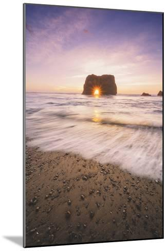 Sun Star at Elephant Rock, Fort Bragg Mendocino-Vincent James-Mounted Photographic Print