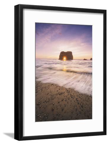 Sun Star at Elephant Rock, Fort Bragg Mendocino-Vincent James-Framed Art Print